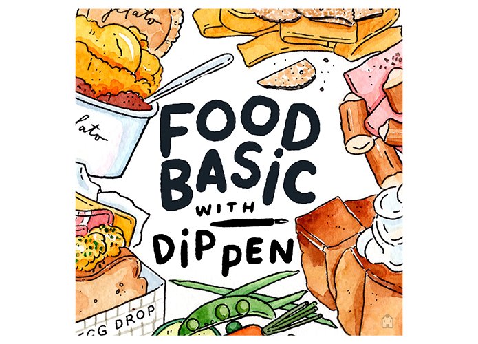 Food basic with Dip Pen by dailydraw studio